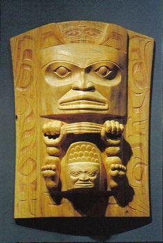 Nisga'a carvers Norman Tait and Lucinda Turner; Northwest Coast Native Art.