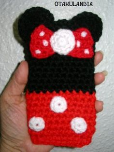 How to Crochet Mobile Cell Phone Pouch for iPhone Samsung - Crochet Ideas Crochet Jar Covers, Crochet Phone Cover, Crochet Cozy, Diy Crochet, Crochet Pencil Case, Childrens Purses, Crochet Mobile, Crochet Purse Patterns, Easy Crochet Projects