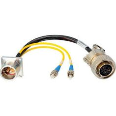 Hybrid Fiber Systems 24' Lemo EDW to Duplex ST Fiber & 5-Pin AMP Power Breakout Cable
