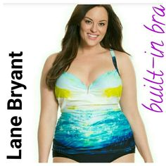 0fc62471ee6fd Lane bryant tankini swimsuit bra print  Top only  new w tags Marked Has  build in bra with underwire Lane Bryant Swim