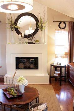 25 Cozy Home Decor homedecor interiordesign homedecortips to inspire interiors - Home Decoration Tips Eclectic Living Room, Living Room Designs, Eclectic Decor, Living Spaces, Interior Decorating Styles, Decorating Ideas, Decor Ideas, Interior Designing, White Fireplace