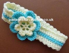 pfc229-Headband Baby crochet pattern