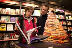 12/12/12 Christmas Author Evening - Our Art Bookseller Isabel with Simon Grant author of 'In My View'
