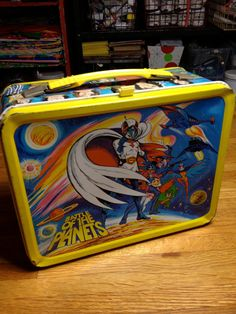 Items similar to 1979 Battle of the Planets anime TV show Sandy Frank Thermos metal lunch box lunchbox RAD on Etsy Show Sandy, Childhood Toys, Childhood Memories, Boxer Rebellion, Battle Of The Planets, Vintage Lunch Boxes, 70s Tv Shows, School Lunch Box, Sci Fi Tv
