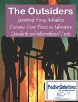 The Outsiders Common Core Standards Focus Activity Pack $