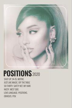 Ariana Grande Album Cover, Ariana Grande Poster, Ariana Grande Fotos, Ariana Grande Pictures, Poster Minimalista, Minimalist Music, Iconic Movie Posters, Film Posters, Vintage Music Posters