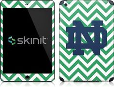 Skinit Notre Dame Chevron Print Vinyl Skin for Apple iPad Mini by Skinit. $19.99. IMPORTANT: Skinit skins, stickers, decals are NOT A CASE. Our skins are VINYL SKINS that allow you to personalize and protect your device with form-fitting skins. Our adhesive backing can be applied and removed with no residue, no mess and no fuss. Skinit skins are engineered specific to each device to take into account buttons, indicator lights, speakers, unique curvature and will no...