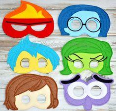 Inside out inspired mask por MyWonderlandBoutique en Etsy