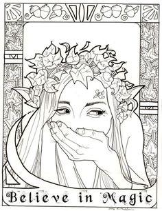 Leafy Elf print by Karen Hallion from khallion on etsy