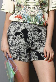Baroque Print Shorts $29.90  http://www.chicwish.com/baroque-print-shorts.html  #Chicwish