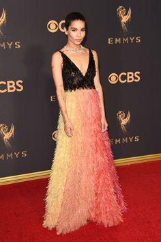 Zoë Kravitz - HarpersBAZAAR.com in Dior Haute Couture and Tiffany & Co. jewels.
