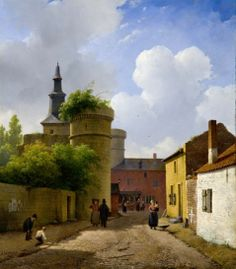 Andreas Schelfhout - Straatje in Huy (ca. 1824 - 1825)