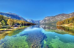 Beautiful Bohinj Lake in Slovenia!