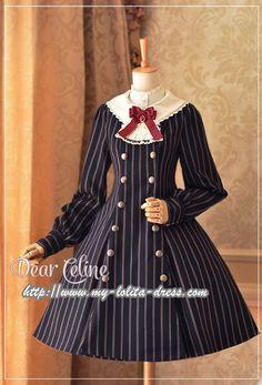 Dear Celine ~Autumn Academy~ Double Breasted Lolita Coat/OP Dress - Restocked