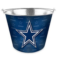 Chill your drinks for the big game in this NFL Metal Ice Bucket. Great for holding ice, bottles, water or anything else you want to take along, the bucket features a team logo and a full tonal wrap of your team's graphics. Dallas Cowboys Party, Dallas Cowboys Outfits, Dallas Cowboys Pro Shop, Cowboy Theme Party, Cowboy Birthday Party, Football Birthday, 10th Birthday, Birthday Ideas, Nfl Party
