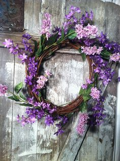 Lilac wreath. I'm SO excited- my lilacs are starting to get little buds. It won't be long! :)