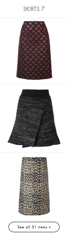 """SKIRTS 7"" by noconfessions ❤ liked on Polyvore featuring skirts, black, high rise skirts, knee high skirts, knee length pencil skirt, high waist knee length pencil skirt, high waisted skirt, high waisted short skirts, short skirts and short a line skirt"