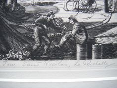 Detail from etching by William Washington, 'Saint Nicholas, La Rochelle' Saint Nicholas, Washington, Saints, Detail, Artist, Painting, Santos, Painting Art, Paintings