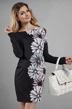 Černé květované těhotenské šaty s dlouhými rukávy Maternity Dresses, Maternity Fashion, Dresses For Work, Dresses With Sleeves, Peplum Dress, Long Sleeve, Maternity Gowns, Sleeve Dresses, Long Dress Patterns