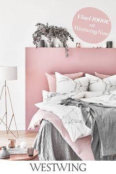 Pink Bedroom Decor, Pink Bedrooms, Teen Girl Bedrooms, Gray Bedroom, Bedroom Ideas, Marble Bedroom, Marble Bedding, Master Bedroom, Trendy Bedroom