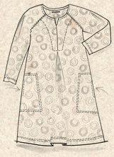 """Neon"" tunic in rayon – Zigzags   circles – GUDRUN SJÖDÉN – Webshop fa05372b34537"
