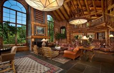 Spectacular Log Home In The Heart Of Castle Creek Valley...CAN I HAVE THIS SOMEWHERE IN COLORADO OR EVEN WYOMING !