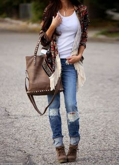I love everything about this Fall outfit. Lovely Fall Fresh Looking Outfit. 46 Adorable Fashion Ideas To Wear Today – I love everything about this Fall outfit. Lovely Fall Fresh Looking Outfit. Street Style Outfits, Mode Outfits, Casual Outfits, Outfits 2014, Denim Fashion, Look Fashion, Fall Fashion, Fall Winter Outfits, Autumn Winter Fashion
