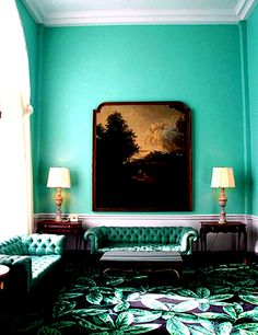 """Dominant colour, Tiffany blue. I have a wall painted this colour at home. It's a colour that looks good with almost any other colour. I have it teamed with a lot of white to give a """"fresh"""" look."""