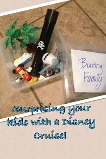 How to surprise your kids with a Disney cruise or trip!
