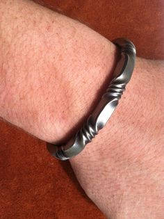 Hand forged Viking Oath Ring Bracelets Four Twists by BullaForge