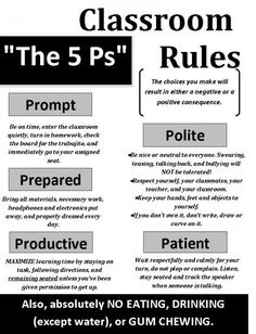 classroom rules for high school--Love this: simple, easy to remember, yet expansive in coverage.