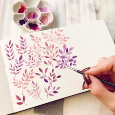 "1,990 Me gusta, 19 comentarios - Seyoung_J (@sesong_i) en Instagram: ""Purple, Attractive color ‍ _watercolor…"""