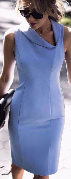 Asymmetric shawl collar sheath dress