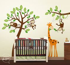 this one is adorable too ... great for a jungle themed nursery.  This is the boy choice!
