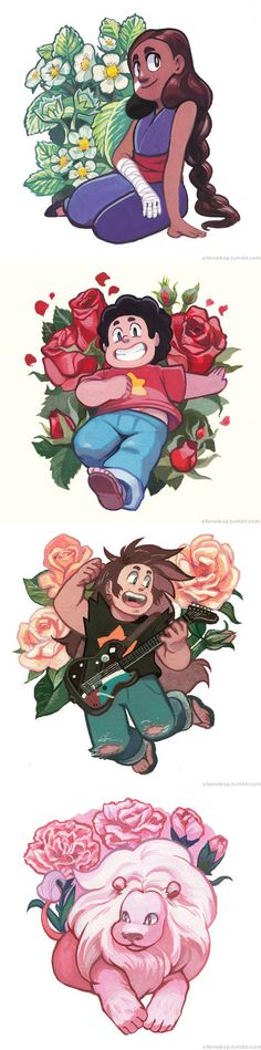 Draw Roses In Bloom. Did they mean to make Connie's training gi look like Gohan from DBZ? - See more 'Steven Universe' images on Know Your Meme! Cartoon Network, Animation, Universe Art, Universe Images, Fan Art, Fandoms, Chibi, Cool Art, Character Design