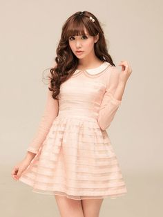 Mango Doll - Sweet Doll Collar Organza Dress, $58.00 (http://www.mangodoll.com/all-items/sweet-doll-collar-organza-dress/)