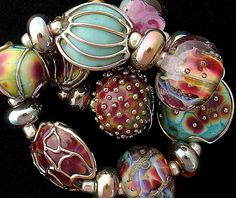 DSG Beads Handmade Organic Lampwork Glass Made To by debbiesanders, $125.00