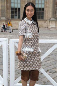 Shiori Kutsuna Front Row at Louis Vuitton