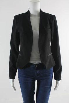 FINAL TOUCH Black Long Sleeve Blazer Sz S #FINALTOUCH #Blazer