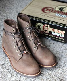 """Chippewa American Handcrafted GQ Apache Lacer 6"""" Engineer Boots Sz. 12D #Chippewa #AnkleBoots"""