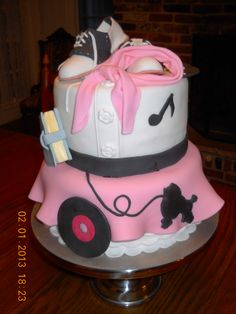 50's Girl Cake by adonoflio on CakeCentral