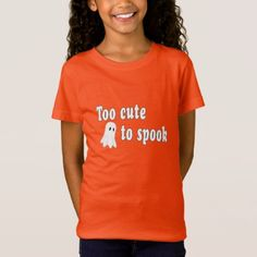 #Too Cute To Spook | Funny Halloween T-Shirt - #Halloween happy halloween #festival #party #holiday