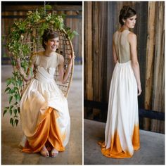 I do like the idea of a dip dye wedding dress