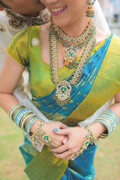 Beautiful cross-cultural wedding with the bride in a traditional Indian sari {Facebook and Instagram: The Wedding Scoop}