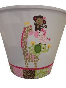 Jungle Jill Trashcan by theletterboutique on Etsy, $16.00