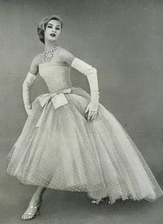 Evening gown by Christian Dior, April 1956.