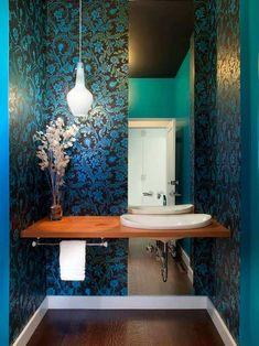 idea para decorar un baño pequeño