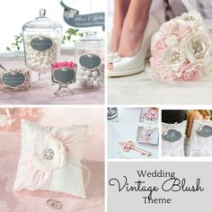 Vintage Blush - For the Romantics.  Beautiful colours from grey to blush to the brightest of white's.  We have the perfect items to create your very own Vintage Blush Fairytale