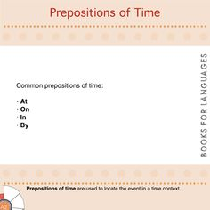 Prepositions are small words that connect elements in a sentence. They are essential because they provide additional details about the sentence. We use prepositions of place to locate an event in a space frame.
