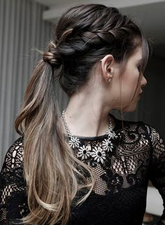 Cute Braided Pony Hairstyles for Teenage Girls